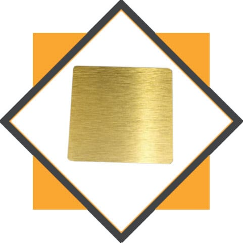 Brass Colored Hairline Finish Sheets