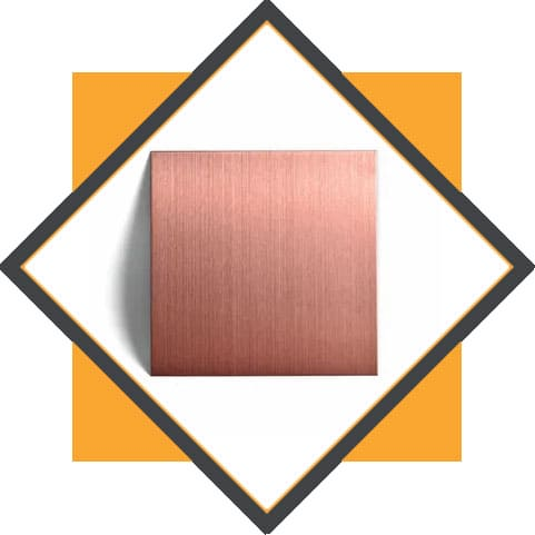 Stainless Steel Rose Gold Colored Hairline Finish Decorative Sheet