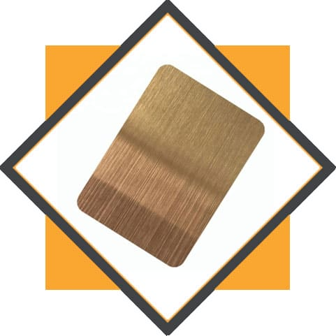 Stainless Steel Bronze Colored Hairline Finish Sheet