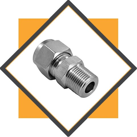 Stainless Steel 304 / 304L / 304H Tube to Male Fittings